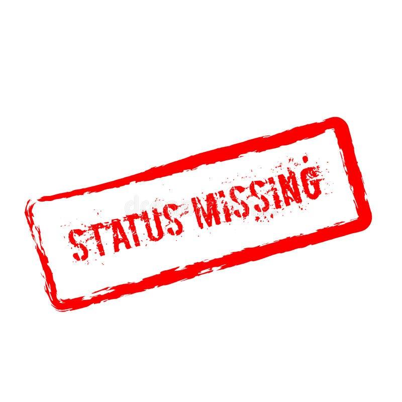 Status brakująca czerwona pieczątka odizolowywająca na bielu royalty ilustracja