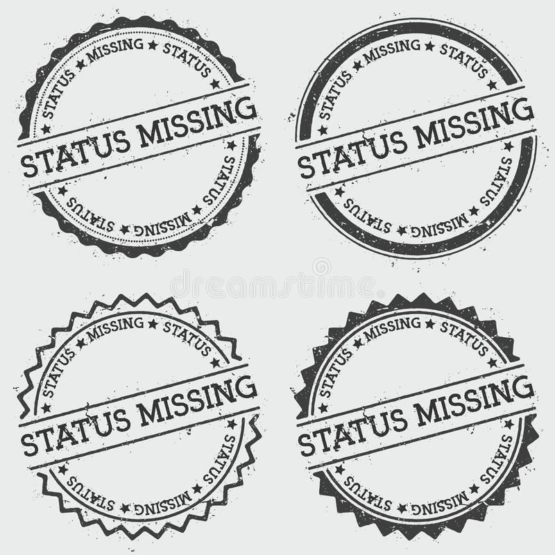 Status insygni brakujący znaczek odizolowywający na bielu ilustracja wektor