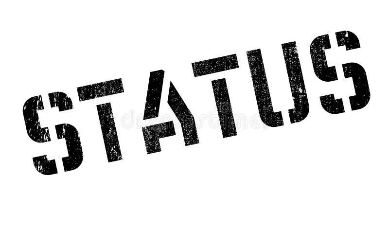 Status pieczątka ilustracja wektor