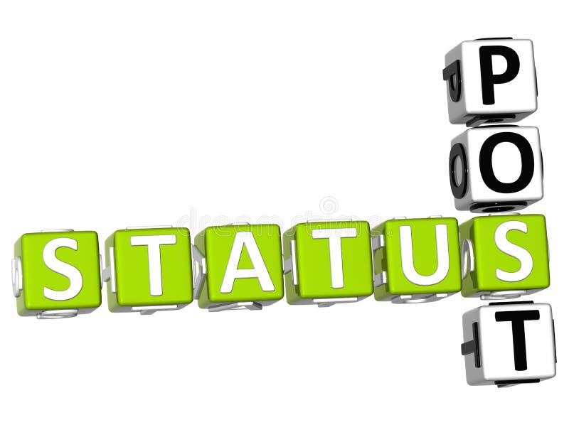 Status poczta Crossword ilustracja wektor