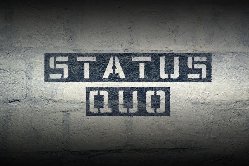 Status quo GR royaltyfri bild