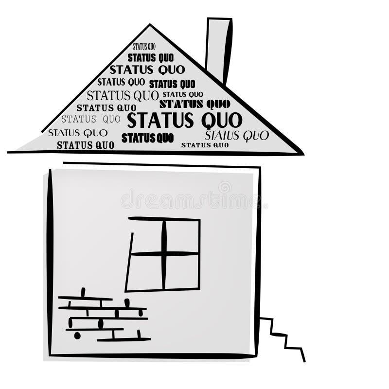 Status Quo słowa na domu. ilustracja wektor