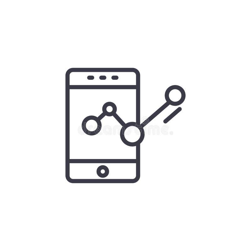 Status wiadomości ikony liniowy pojęcie Status wiadomości linii wektoru znak, symbol, ilustracja ilustracja wektor