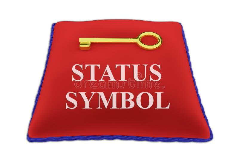 Statussymboolconcept stock illustratie