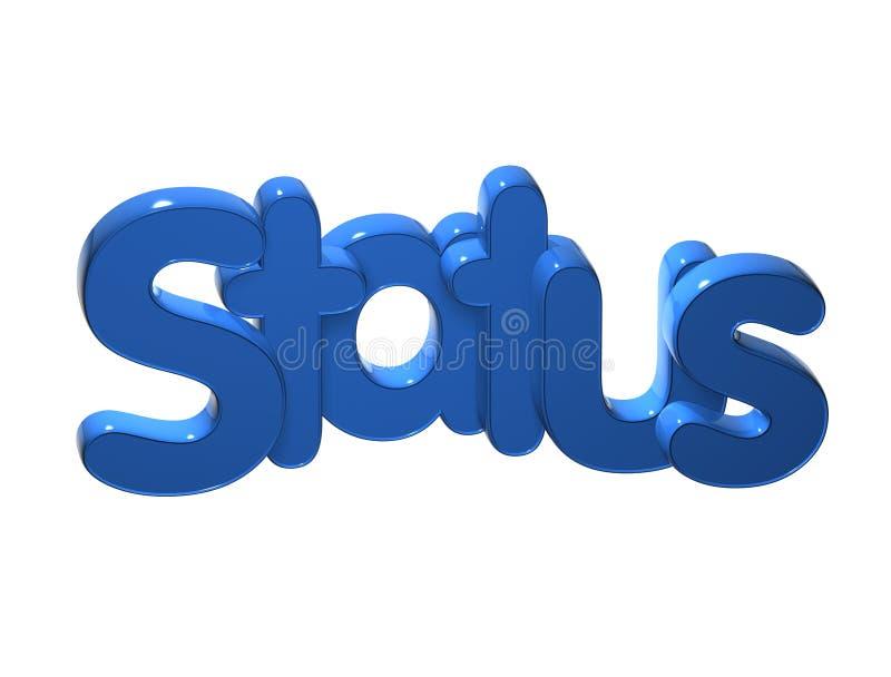 statut de 3D Word au-dessus du fond blanc illustration de vecteur
