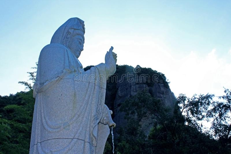 Statut de Guanyin Bouddha photographie stock
