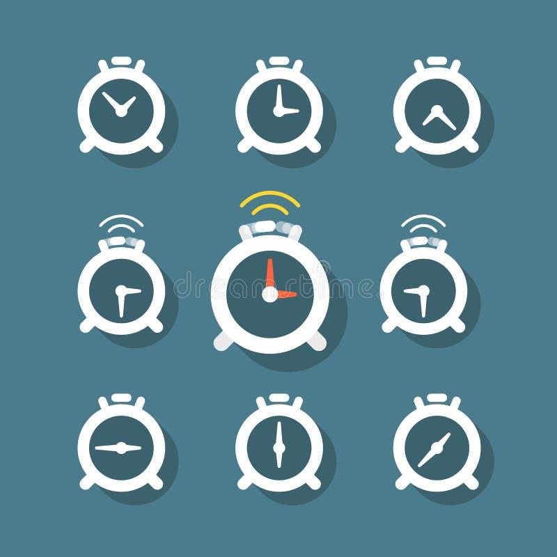 Statut différent des horloges illustration de vecteur