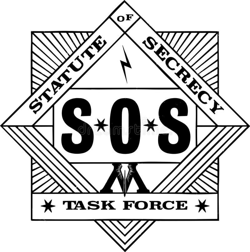 Statut jeu de logo de groupe de travail de secret de nouveau de niantic illustration libre de droits
