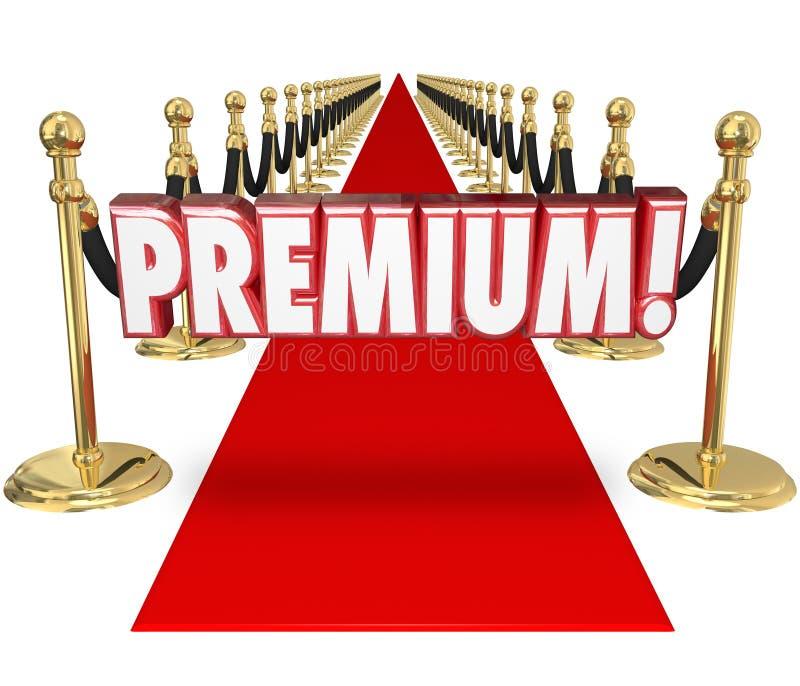 Statut prioritaire de la meilleure qualité de client de dessus de traitement de tapis rouge illustration stock