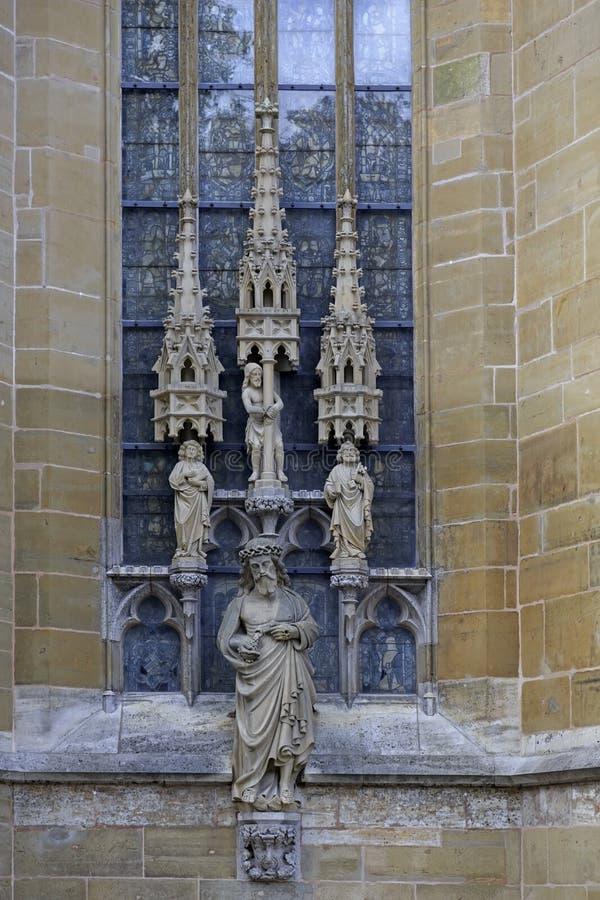 Statuy święty na ścianie świętego Jacob kościół, lutheran wewnątrz zdjęcie royalty free