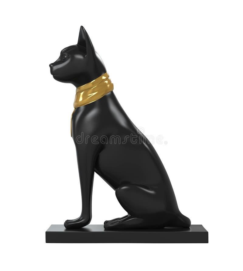 Statuy Egipt kot obraz royalty free