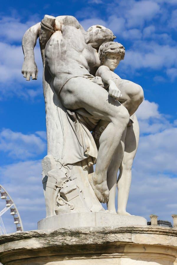 Statuy Paryż obraz royalty free