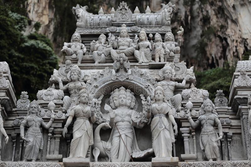 Statuy w Batu Zawalają się obraz stock