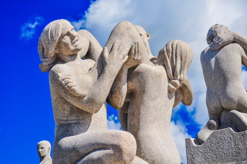 Statuy w Frogner parku, Oslo zdjęcia royalty free
