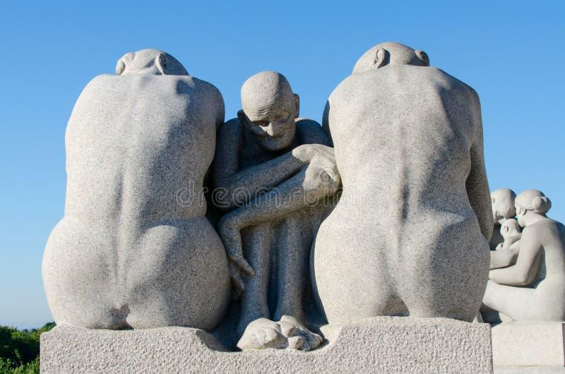 Statuy w Vigeland parku zdjęcie royalty free
