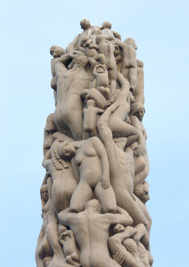 Statuy w Vigeland parku Oslo norway zdjęcia royalty free