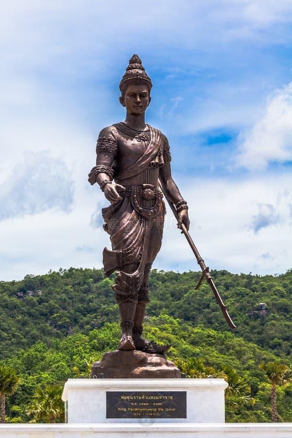 Statuy Wielki królewiątko Tajlandia w Rajabhakti parku zdjęcie stock