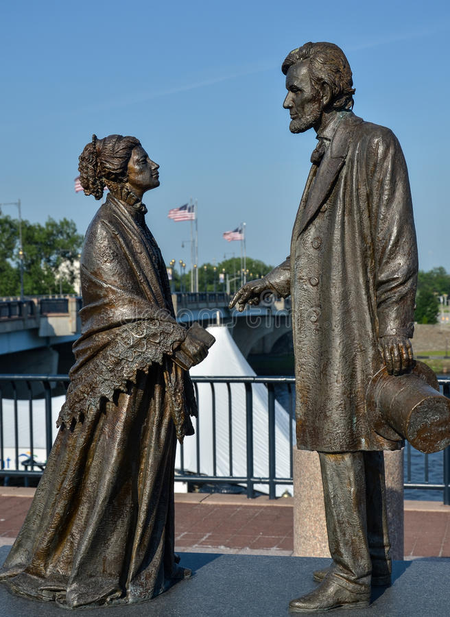 Staty Abraham Lincoln arkivbild