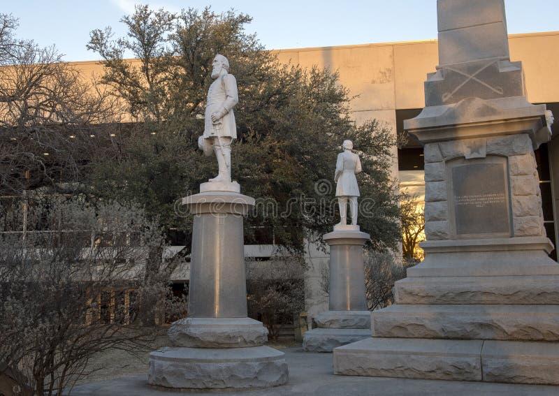 Staty allmänna Stonewall Jackson, förbundsmedlemkrigminnesmärken i Dallas, Texas arkivbilder