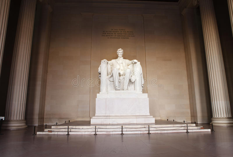 Staty av Abraham Lincoln Washington DC arkivfoton