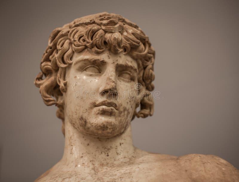 Staty av Antinous från Delphi arkivfoto