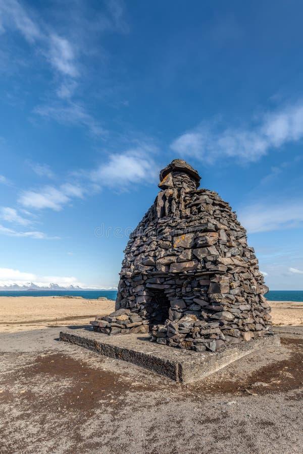 Staty av Bardur Snaefellsnes av Island arkivbilder