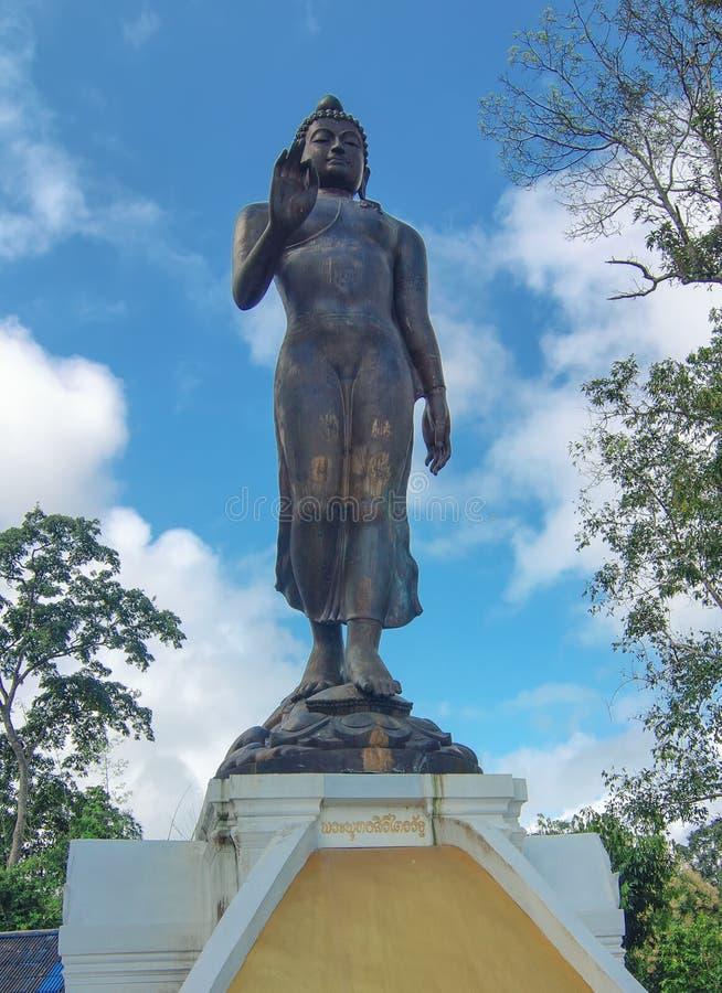 Staty av Buddha i regionen av den guld- triangeln, Thailand royaltyfri bild