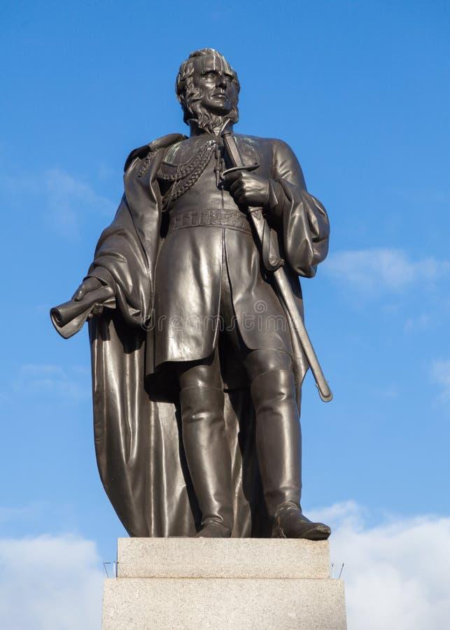 Staty av Charles James Napier royaltyfri foto