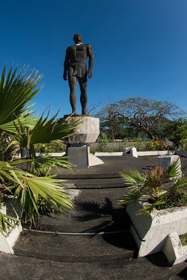 Staty av chefen Quipuha, Hagåtña, Guam arkivbilder