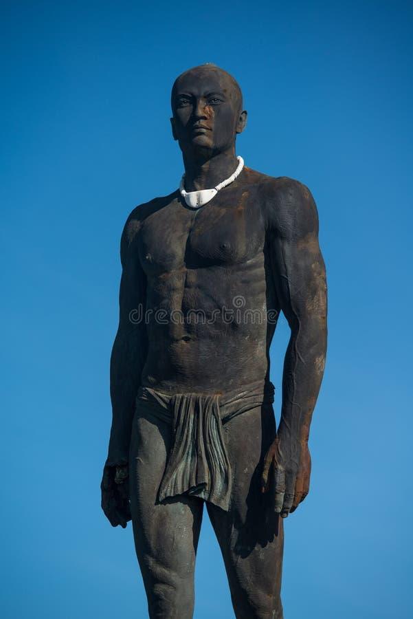 Staty av chefen Quipuha, Hagåtña, Guam royaltyfri fotografi