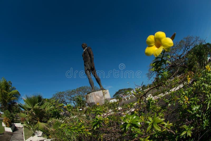Staty av chefen Quipuha, Hagåtña, Guam arkivbild
