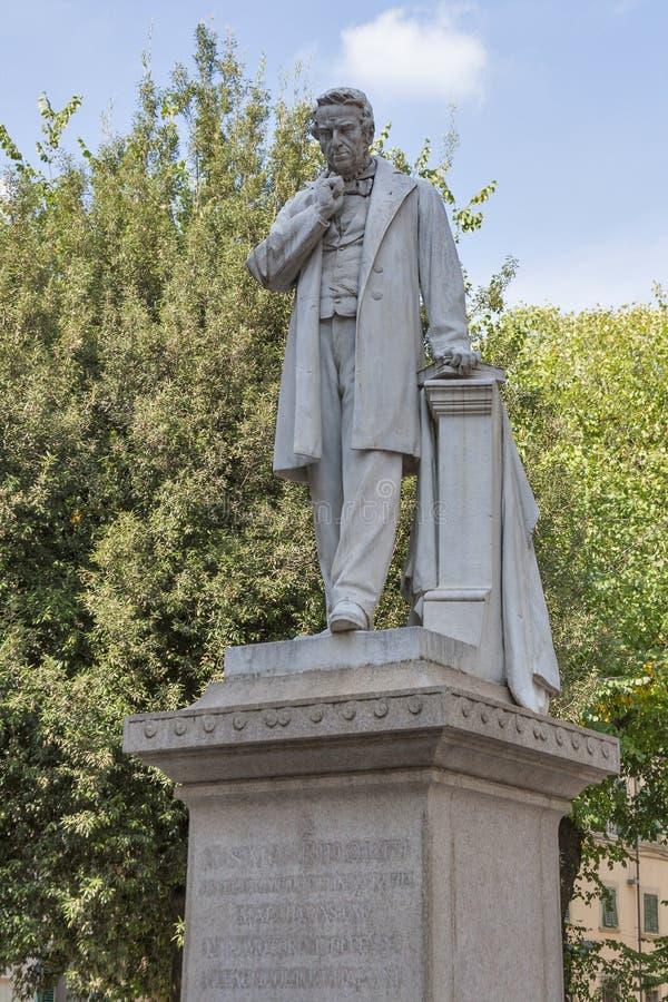 Staty av Cosimo Ridolfi i Florence arkivbild