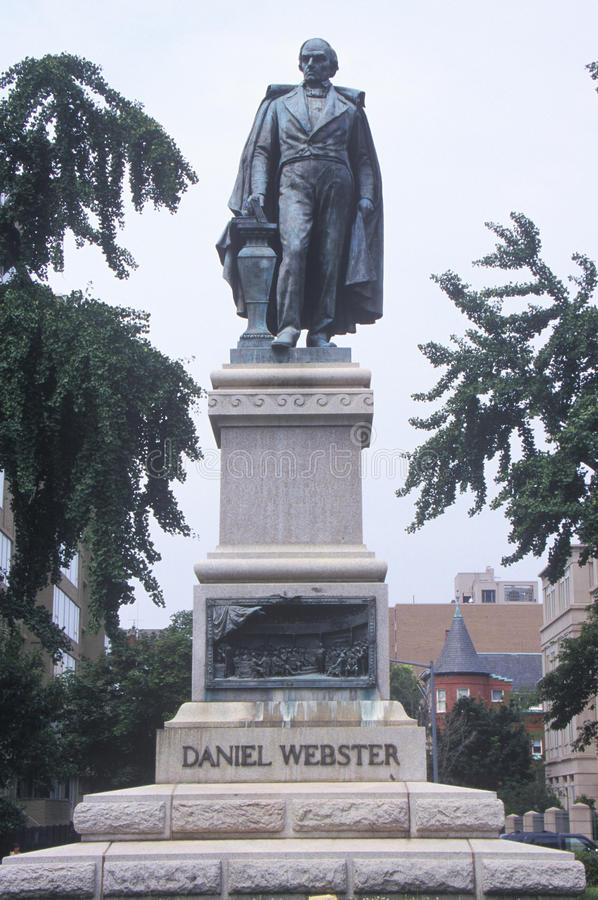 Staty av Daniel Webster arkivfoton