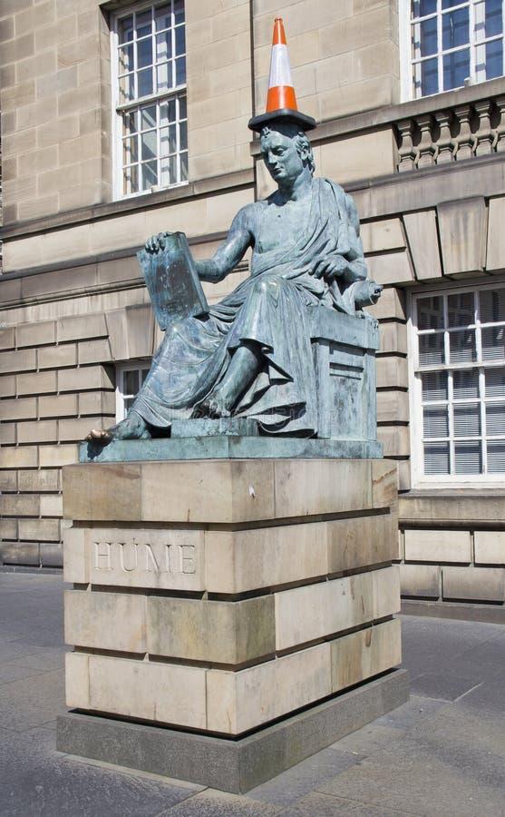 Staty av David Hume royaltyfri bild