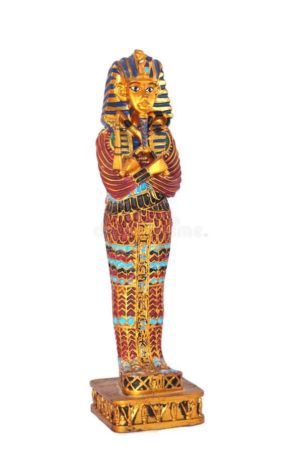 Staty av den egyptiska pharaohen arkivfoton