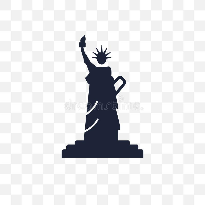 Staty av den genomskinliga symbolen för frihet Staty av frihetsymboldes royaltyfri illustrationer
