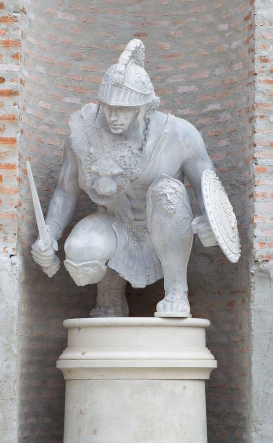 Staty av den grekiska soldaten royaltyfria foton