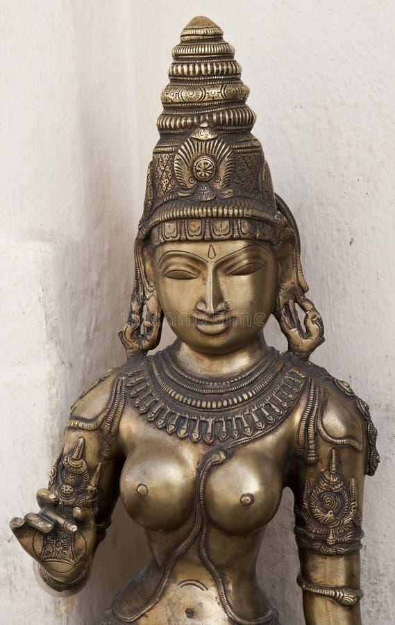 Staty av den indiska gudinnan arkivbild