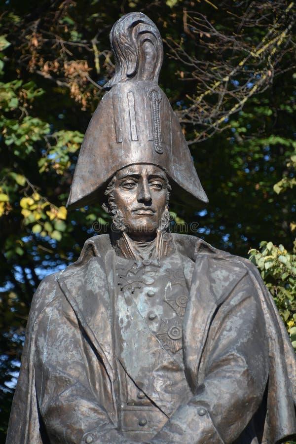 Staty av den ryska fältmarskalken Michael Barclay de Tolly arkivfoto