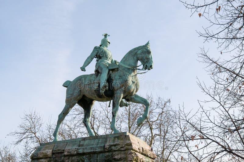 Staty av den tyska kejsaren, Wilhelm I Friedrich Ludwig i Cologne, Tyskland royaltyfri foto
