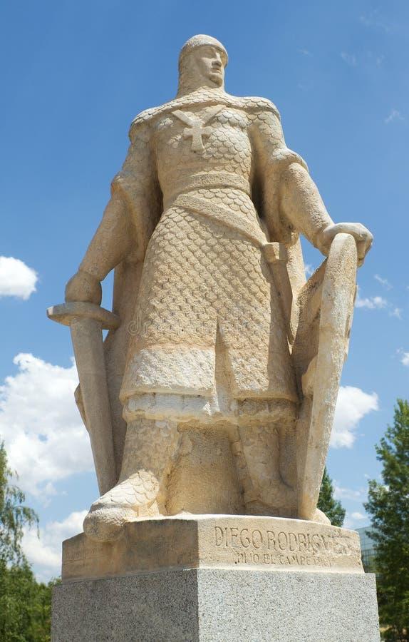Staty av Diego Rodriguez, Burgos. Spanien arkivbild