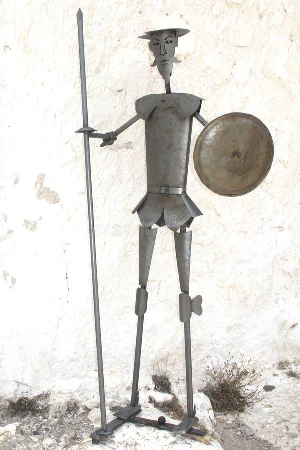 Staty av Don Quichot, Spanien arkivfoton