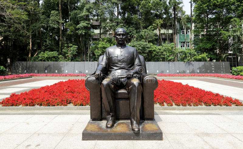 Staty av Dr. Sun, Ännu-Sen arkivbild