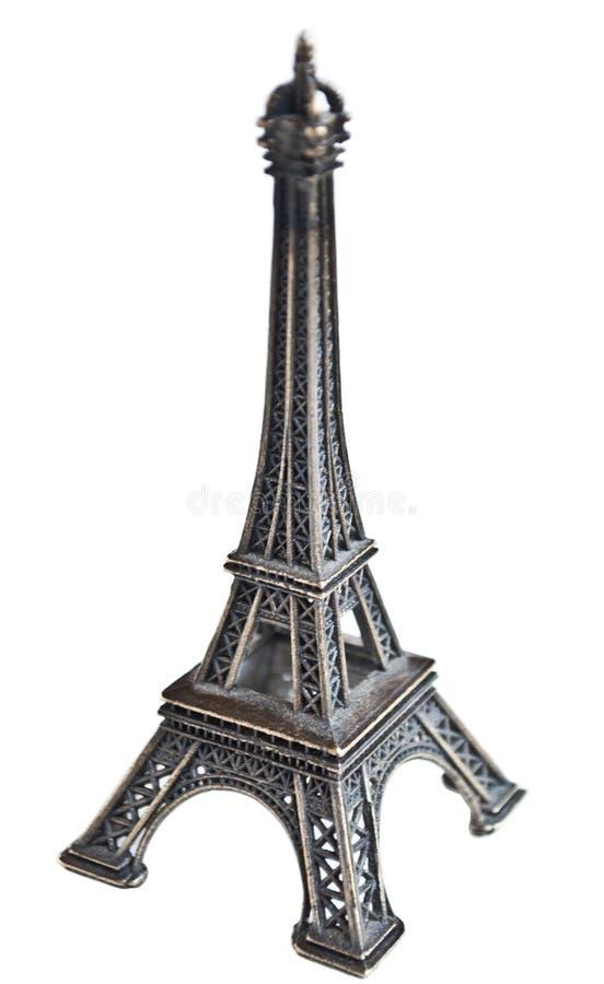 Staty av Eiffeltorn som isoleras p? vit royaltyfria foton
