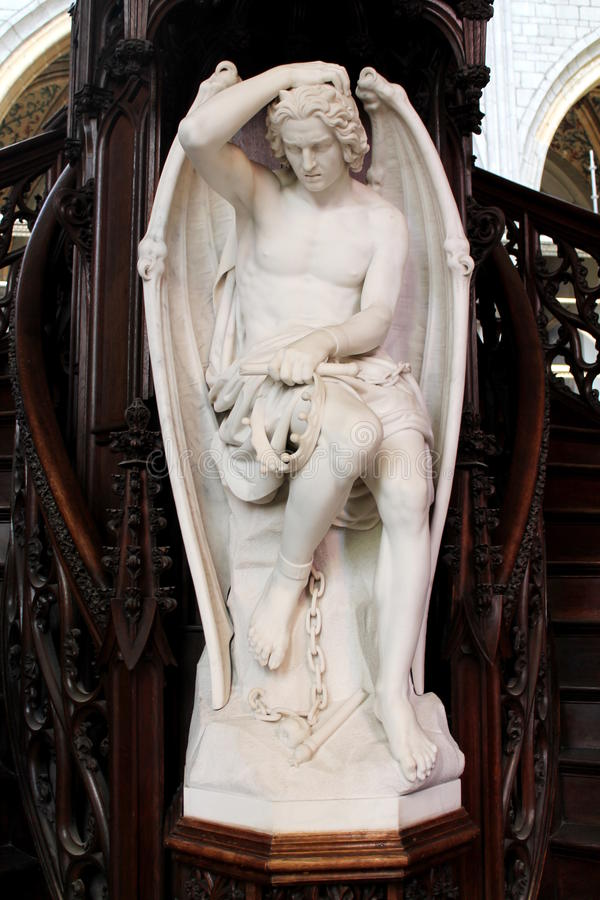 Staty av en ängel royaltyfri fotografi