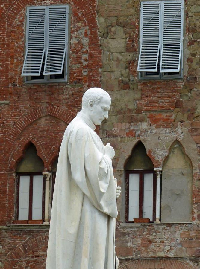 Staty av Francesco Burlamacchi, Lucca arkivfoto