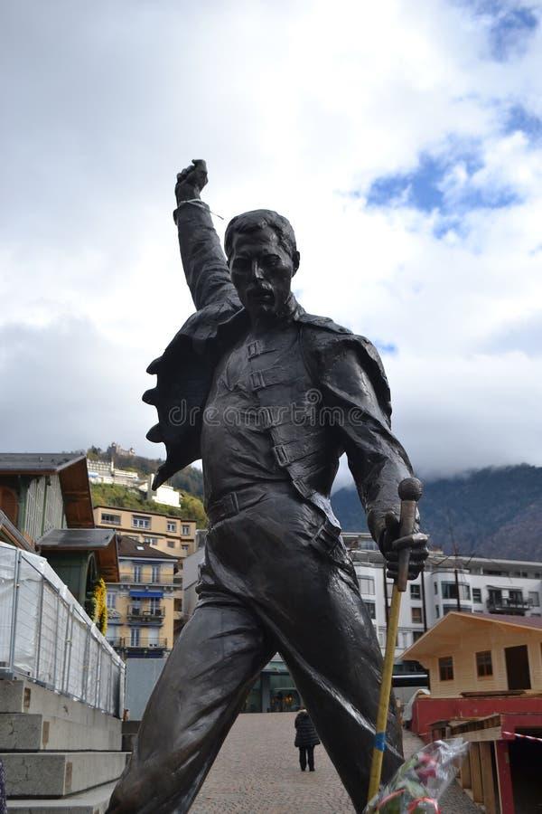 Staty av Freddie Mercury royaltyfria foton