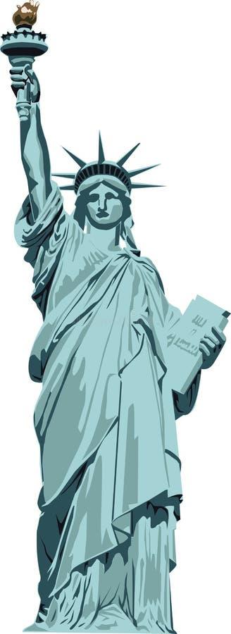 Staty av frihet royaltyfri illustrationer
