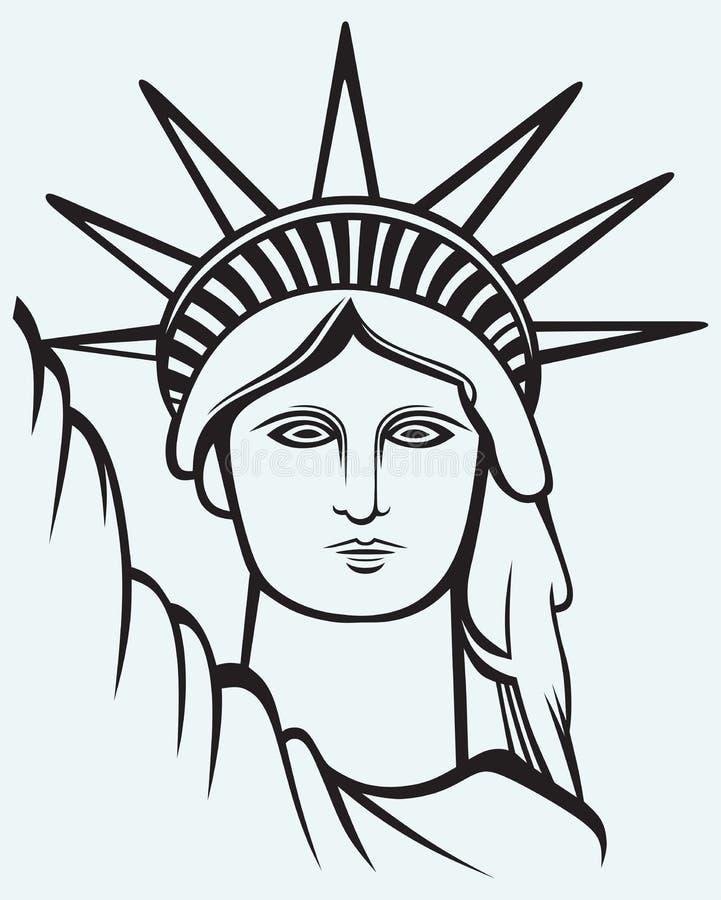 Staty av frihet vektor illustrationer