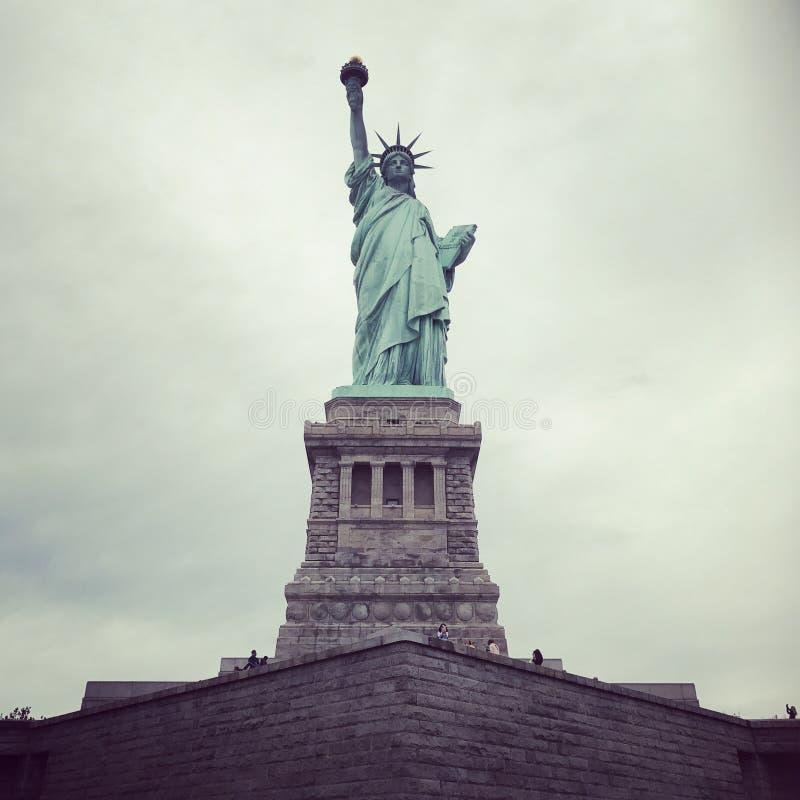 Staty av frihet som är ny royaltyfria foton